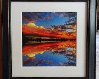 "Framed July Sunset, 'REFLECTIONS"""