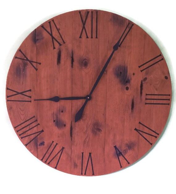 Barn Wood Clock Wood Clock Large Wall Clock Rustic Wall