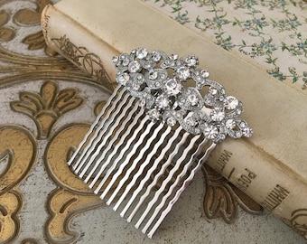 Bridal Hair Comb.Crystal Hair Comb.Rhinestone Hair Comb.Vintage Style Hair Comb.Bridal hair accessory.wedding hair piece.Bridal Crystal Comb