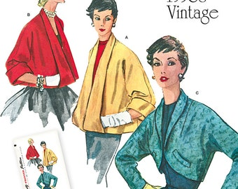 Simplicity Pattern 1319 Misses' Set of Vintage Jackets