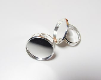 D-00207 - 2 ring base platinium color base 20mm