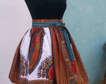 FORII White Dashiki Skirt