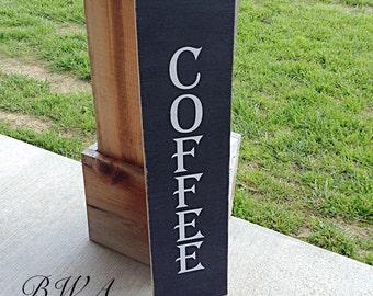 Coffee sign, wood coffee sign, rustic coffee sign, coffee shop sign, coffee house sign, coffee decor, coffee gift