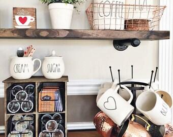Industrial Shelves, Industrial Floating Shelves, Pipe Shelve, Floating Wood Shelf, Wooden Floating Shelves, Wood Shelves, Kitchen Wall Decor