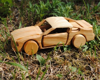Car toy-Car-wooden car toy-wood car-waldorf car-Ford Mustang car- car toys Mustang-automobile toy
