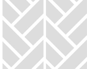 Removable Wallpaper, Peel and stick wallpaper, Wallpaper, Geometric wallpaper, grey wallpaper, self adhesive wallpaper, herringbone