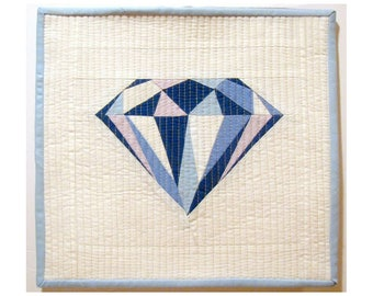 "BLUE DIAMOND Mini Quilt Pattern | 12"" x 12"" (30cm x 30cm)"