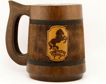 Prancing pony mug 23Oz, Lord of the Rings mug, Hobbit mug, Prancing Pony Pub Inspired tankard, Geeky Gift, LOTR Gift, LOTR Pint XMAS Gifts