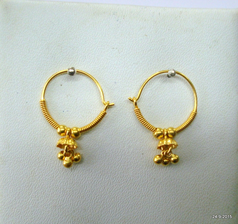 traditional design 18kt gold earrings upper ear earrings