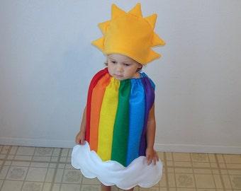 Baby Halloween Costume Rainbow Dress Up Rainbow Sun Cloud Photo Prop Girl Costume Infant Toddler Newborn Carnaval Carnival Purim Fancy Dress  sc 1 st  Etsy & Newborn costume | Etsy