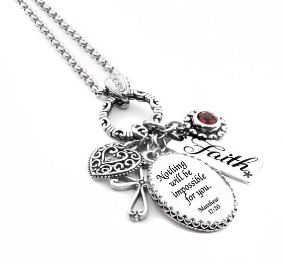 Religious Charm Bracelets: Religious Jewelry Faith Jewelry Personalized Bible Verse