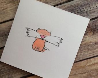 Cute tiger card