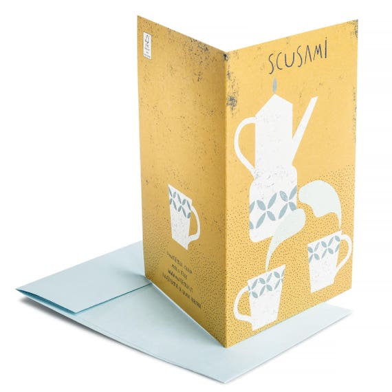 SCUSAMI. Sorry card. Let's have coffee together. For friends. For brother, sister. For Mom.