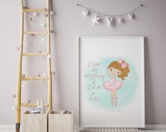 Ballerina Print| Ballerina wall art| Ballerina Wall Print|Ballerina|individual Print