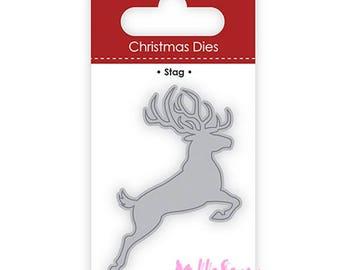 Die cut or cut out reindeer Christmas scrapbooking card making (ref.110) templates *.