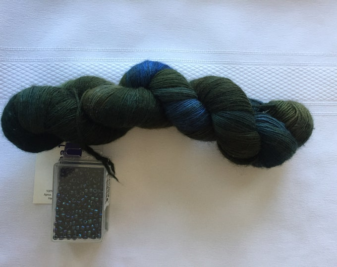 Malabrigo Lace Yarn and Matching Size 6/0 beads