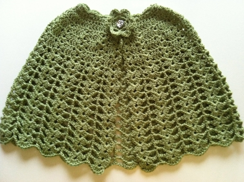 Crochet Pattern for Cape Poncho Shawl Lacy Cape PDF 12-040