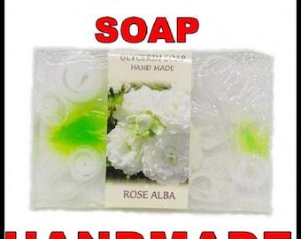 Glicerin Soap Hend Made, 75g, ROSE ALBA, Bulgarian Rose