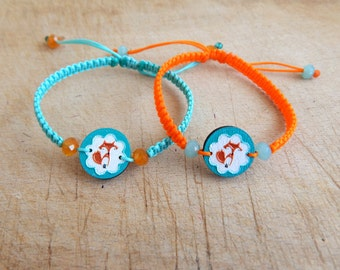 Fox bracelet - Wooden friendship bracelet - One bracelet