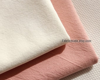Cotton Fabric, Solid Off White Peach Pink Cotton For Clothing Cushion Fabric - 1/2 yard