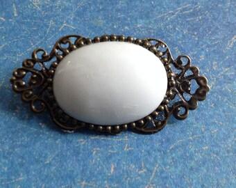 Retro 23x45mm, Limoges porcelain brooch