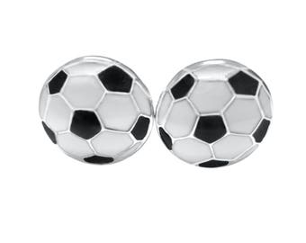 Black and White Soccer Ball Cufflinks