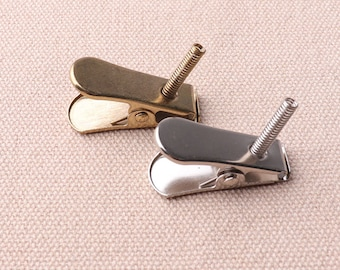 29*11mm Alligator Clip With Spring Gold And Silvery ID Clips Metal Smooth Clips Clasp Finding For Crafts