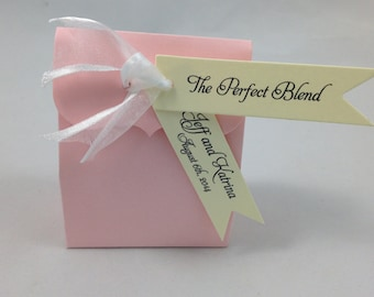 The Perfect Blend Pennant Flag Wedding Favor Tags - Cream Ivory Personalized Tags