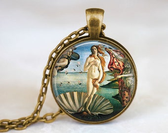 The Birth of Venus • Botticelli • Renaissance • Roman Goddess Jewelry • Famous Painting • Art Jewelry