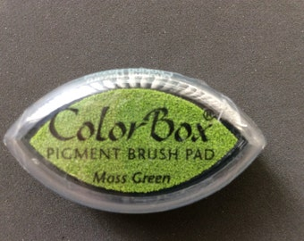 Moss Green Color Box Pigment Brush Pad