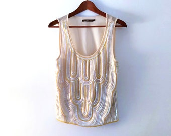 Hazel Sequined and Beaded Top