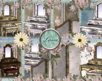 INSTANT DOWNLOAD Shabby Chic Vanity Tables  No:242