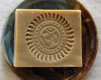 Olive Oil Neem Soap - Unscented Soap - Gentle Soap - Om - Ohm - Winter Dry skin soap