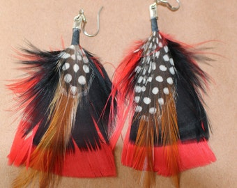 FEATHER Earrings -- Bird, Native American, Southwest - Style 5