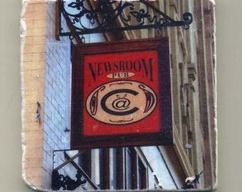 Newsroon Pub in  Milwaukee Wisconsin-  Original Coaster