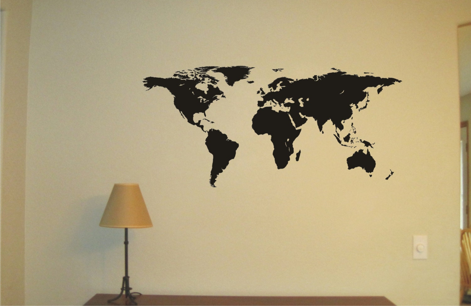 Large WORLD MAP Vinyl Decal Wall Sticker Wall Tattoo