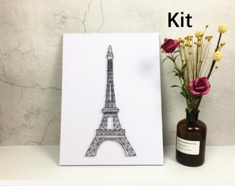 Eiffel Tower Modern Architecture String Art Kit - DIY Kit, Adult Crafts, Holiday Gift, Home Decor, Crafts Kit, Gift for Mom, Arts and Crafts