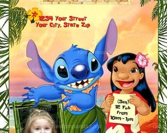 Lilo stitch invite Etsy