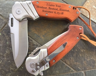 Wife to Husband Gift, Fathers Day Gift, Anniversary Gifts for Men, Personalized Pocket Knife Gifts for Boyfriend, Bride to Groom Gift #003