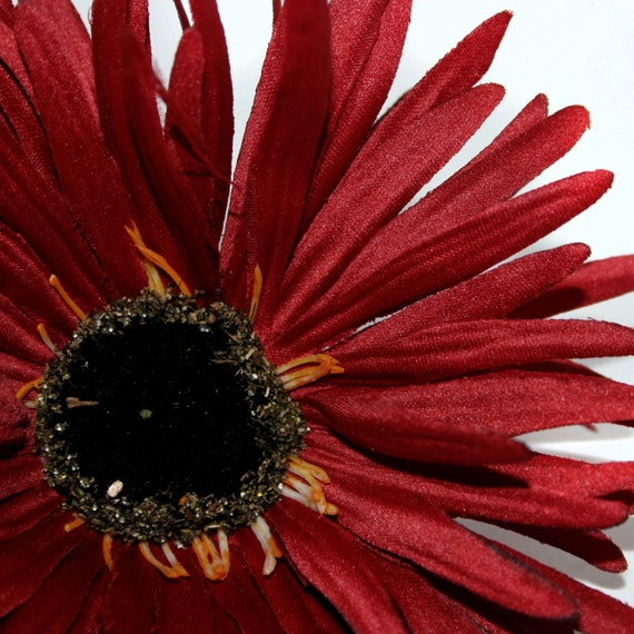 Deep red wild gerbera daisy artificial flowers silk flower heads deep red wild gerbera daisy artificial flowers silk flower heads pre order from silkinspirations on etsy studio mightylinksfo