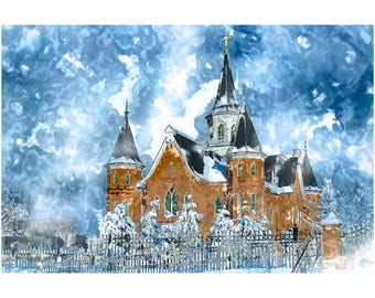 Choice of 20x30 LDS Temple Art Print