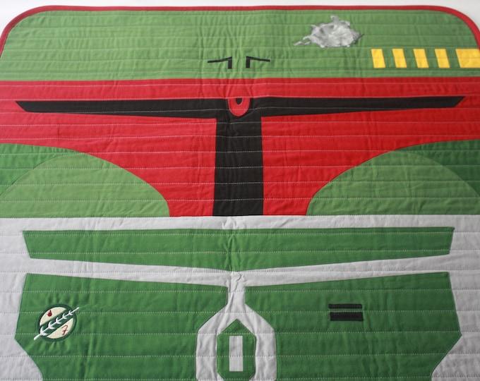 Star Wars baby quilt--Boba Fett baby quilt-MTO