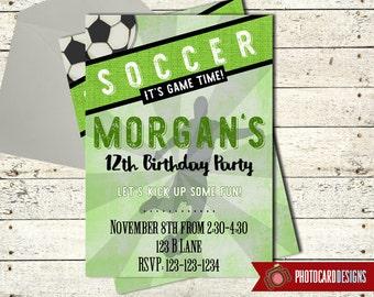 Soccer Invitation, Soccer Birthday Invitation, sports invitation, Soccer Party, Printable, Digital, invite, Ball, Soccer Birthday, Party