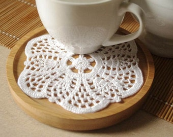 Crochet doily Small doily White crochet doily Cotton lace doilie Small crochet doilies Crochet coaster 219