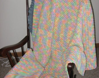 Tropical Fruit Afghan (Please Note- Ready to Ship)