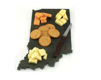 Indiana Slate Cheese Board, Serving Tray, or Cutting Board