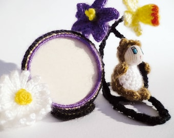 Ecolotoon Locket bear purple Daffodil and Daisy