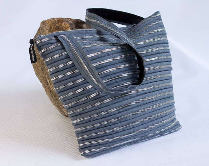 purse made exclusively from zipper, various colors & silver