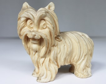 A. Santini Marble/Resin Yorkie Statue