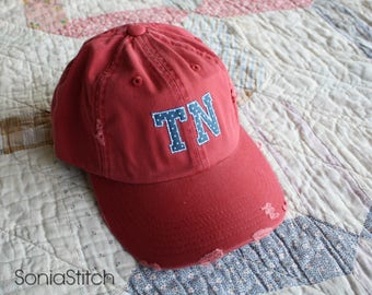 Tennessee Cap - TN Hat - Distressed TN cap - Tennessee state pride cap - State Hat
